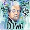 Logo Homenaje a Octavio Paz, por  Caja Negra, archivo de radio.
