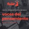Logo Voces del pensamiento por Radio A