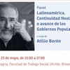 """Logo Atilio Borón: """"América Latina está bajo ataque"""""""