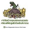 Logo NO al megaestadio arena en Villa Crespo en Radio Asamblea