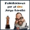 """Logo JORGE LA NATA EL DE LOS HUEVOS DE ORO """"MARTIN FIERRO DE ORO 2016"""""""