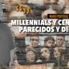"""Logo """"Millennials y centennials, parecidos y diferentes"""" Por: Mario Portugal"""