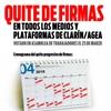 Logo EL QUITE DE FIRMAS DE CLARIN Y OLE, POR REYNALDO SIETECASE