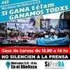 Logo Agustín Lecchi, de SiPreBA, en FM La Patriada a días de una nueva movilización al CCK