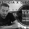 Logo #JusticiaXDiego - Hablamos con Rodri, amigo de Diego - Martes 16/07 09:00 Hs Movilización