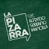 logo La pizarra, con Alfredo Serrano Mancilla