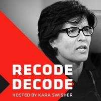 Logo Recode Decode, hosted by Kara Swisher